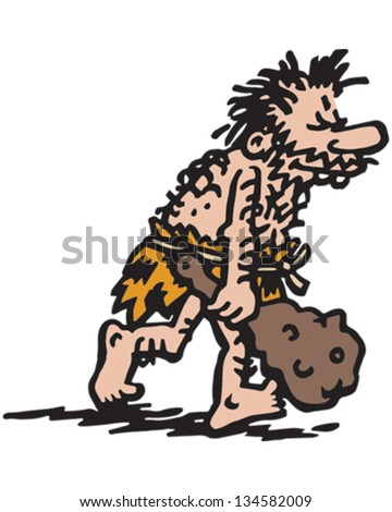 Mr Caveman - stock vector