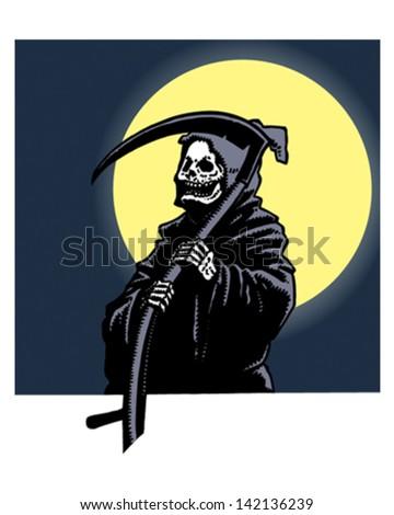 Mr Grim Reaper - stock vector