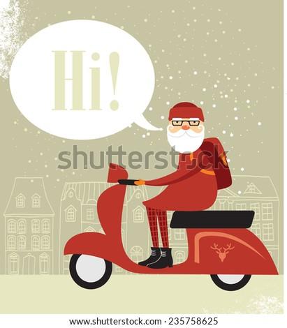 Mr. Santa - stock vector