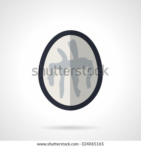 MRI brain element. Flat color style vector icon. Magnetic resonance image of the brain scan. Design symbols for business and website. - stock vector