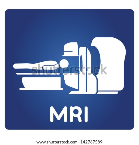 MRI, Magnetic resonance imaging - stock vector