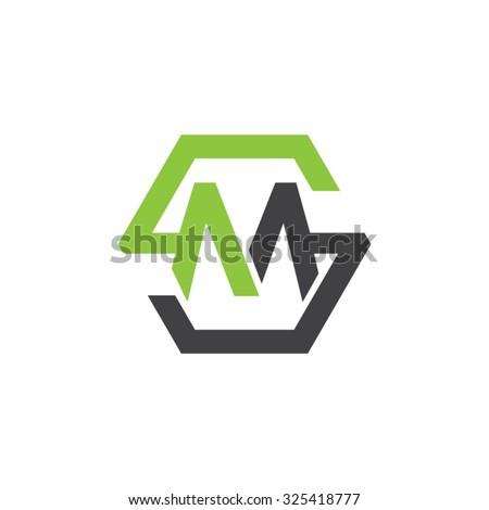 MS SM Initial Logo Hexagon S Stock-Vektorgrafik 325418777 – Shutterstock