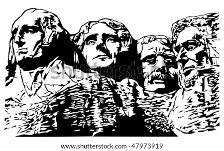 Mt. Rushmore - stock vector