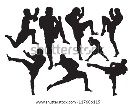 Muay Thai - stock vector
