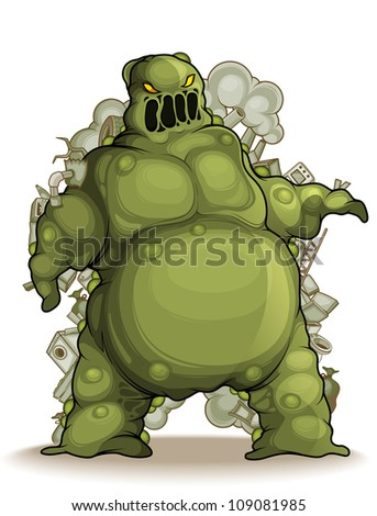 Mud monster isolated - stock vector