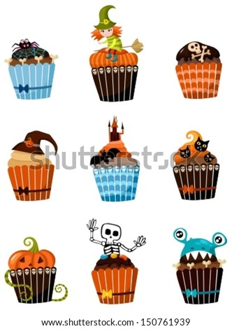 muffins set - stock vector