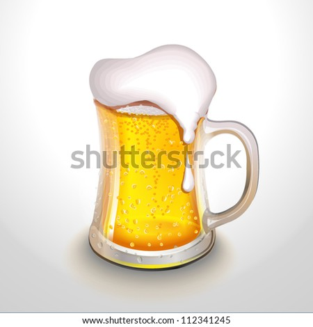 Mug of beer. Vector illustration high quality - stock vector