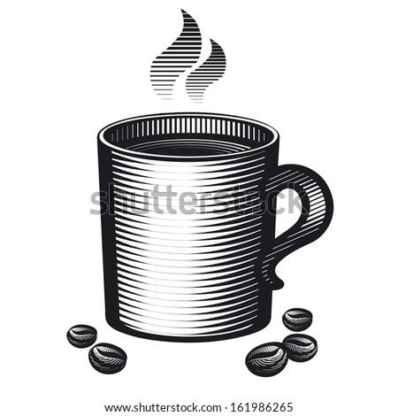 mug of coffee - stock vector