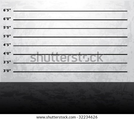 Mugshot prison background vector - stock vector