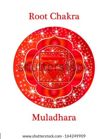 Muladhara chakra vector illustration - stock vector