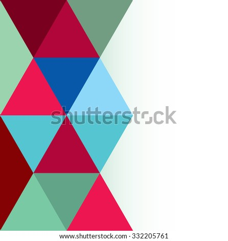 Multi-color Design Templates. Geometric Triangular Abstract Modern Vector Background.
