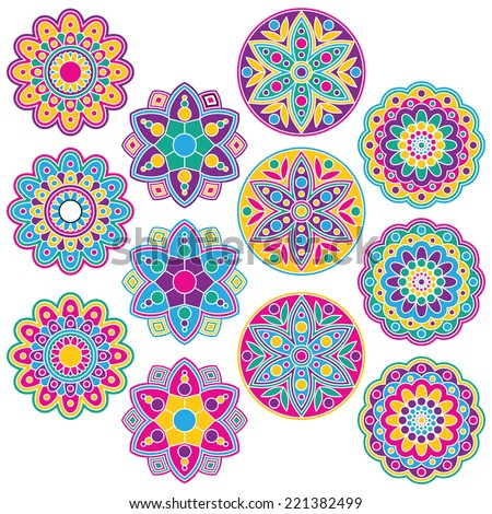 Rangoli Designs Stock Images, Royalty-Free Images & Vectors | Shutterstock