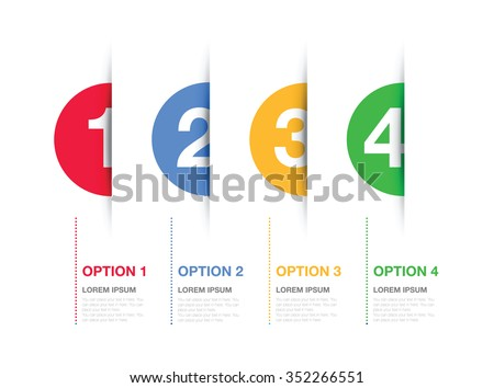 multi coloured numbered option background - stock vector