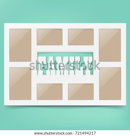 multi frame set with empty space family photo frame photo frame collage multi - Multi Frame