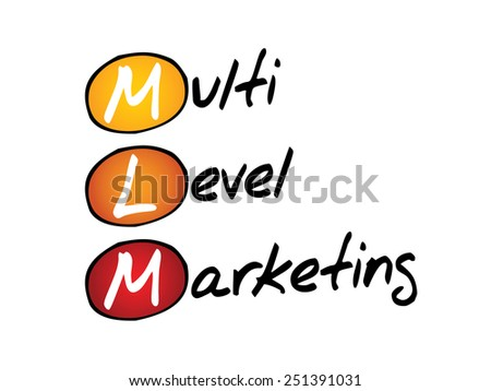 Multi level marketing (MLM), business concept acronym - stock vector