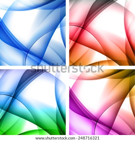 Multicolor abstract background, easy editable - stock vector