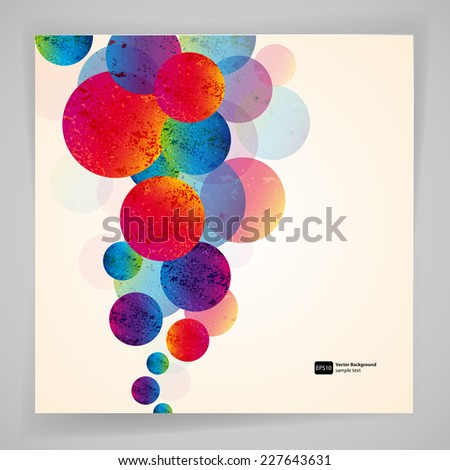 Multicolor abstract bright background. Circles elements for design. Eps10. - stock vector