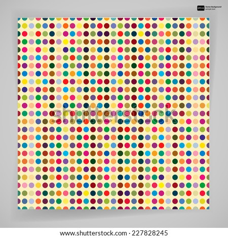 Multicolor abstract bright background with circles. Elements for design. Eps10. - stock vector