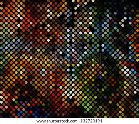 multicolor abstract light disco background square pixel mosaic vector eps 10