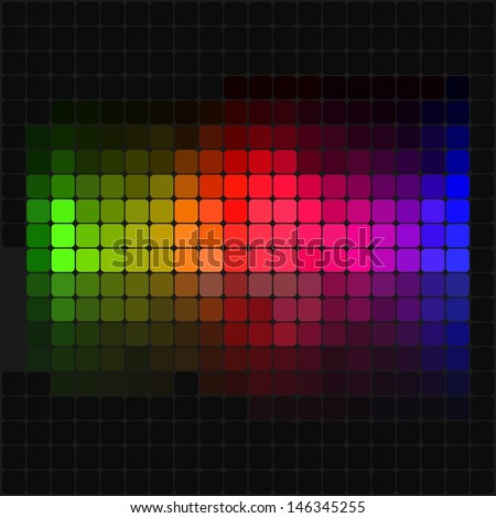 Multicolor abstract lights disco background - stock vector