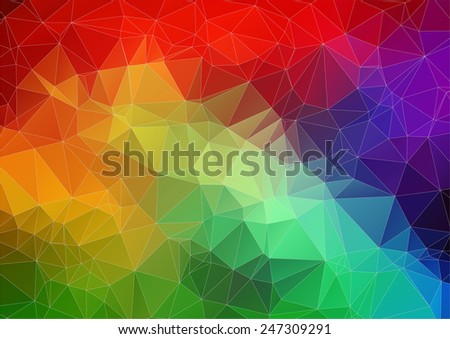 Multicolor bright abstract triangle image for your web design - stock vector