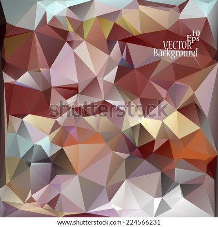 Multicolor (  Brown, Red, Blue, Yellow, Orange, Rose ) Design Templates. Geometric Triangular Abstract Modern Vector Background.
