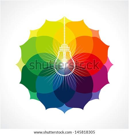 multicolor business idea - stock vector
