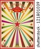 Multicolor circus. A wonderful circus poster for a big party ! - stock photo