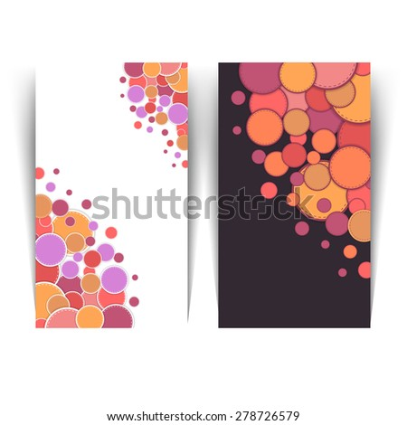 Multicolor Ellipse Elements Horizontal Web Banner Set - stock vector