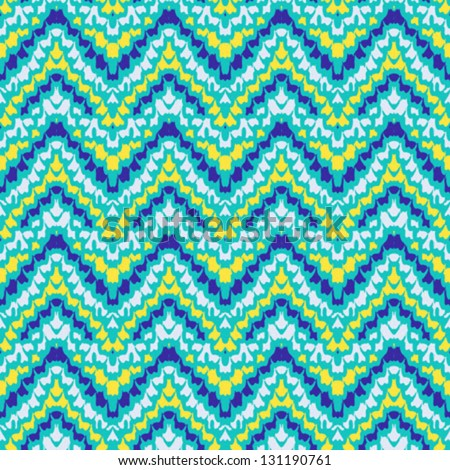 multicolor geometric hipster pattern with zigzag ornament, stylization of Mexican native art. Texture for textile, print, wallpaper, website background. Concept of spring summer or fall fashion - stock vector