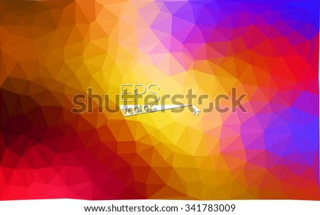 Multicolor geometric rumpled triangular low poly origami style gradient illustration graphic background. Vector polygonal design for your business. Rainbow, spectrum image. - stock vector