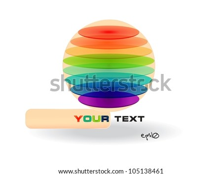 Multicolor glossy abstract logo. Vector illustration EPS10 - stock vector