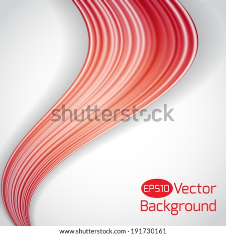 Multicolor hair waves abstract background. Vector illustration