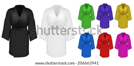 Multicolor housecoats set - stock vector