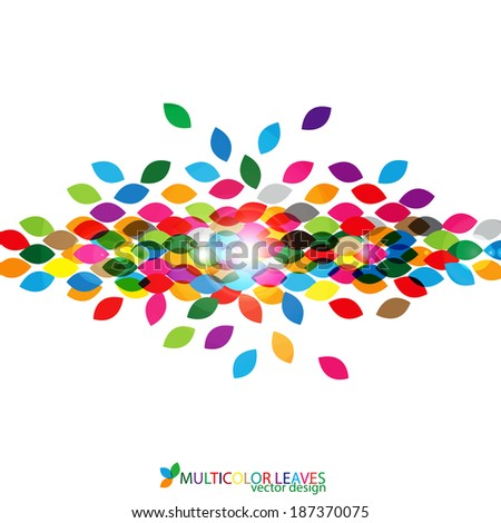 Multicolor leaves vector design