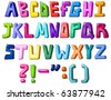 Multicolor letters - stock vector