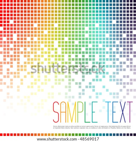 Multicolor Mosaic Background - stock vector