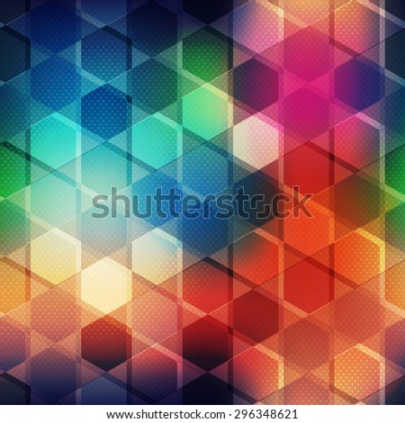 multicolor mosaic seamless pattern