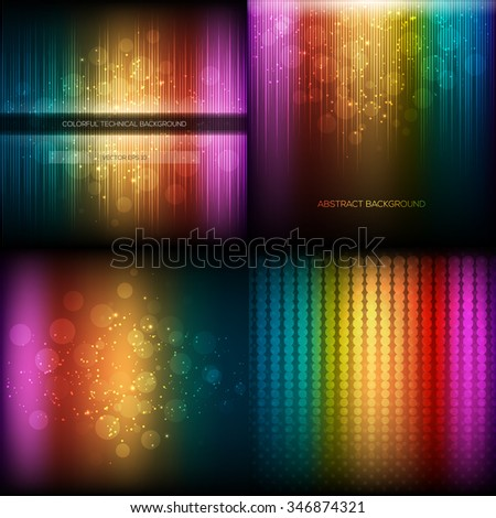 Multicolor musical equalizer set. Vector illustration eps 10 - stock vector