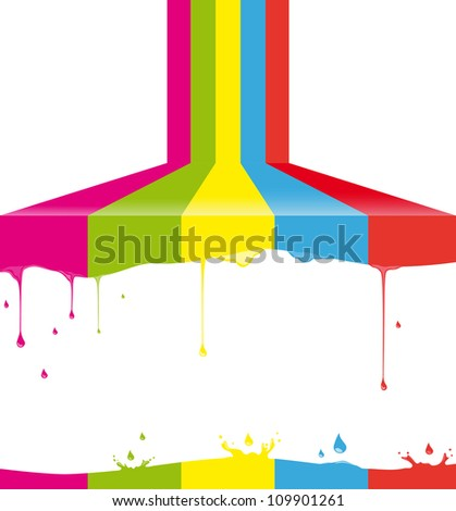 Multicolor paint - stock vector