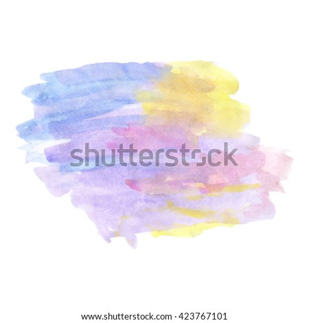 Multicolor pale watercolor painting for retro background design. Vector illustration. - stock vector