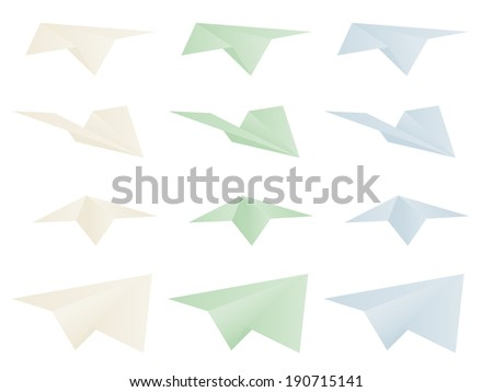 Multicolor paper airplanes