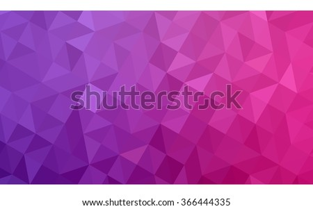Multicolor purple, pink polygonal illustration, which consist of triangles. Geometric background in Origami style with gradient. Triangular design for your business. - stock vector
