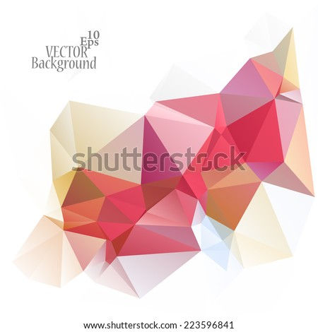 Multicolor ( Red, Gray, Rose ) Design Templates. Geometric Triangular Abstract Modern Vector Background.  - stock vector