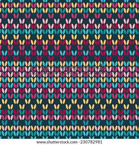 Multicolor seamless knitted background knitted pattern