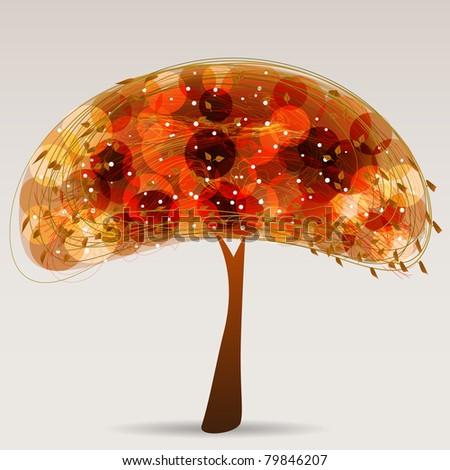 Multicolor Tree - stock vector