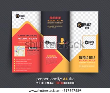 Multicolor Tri-fold, Catalog, Business Concept Brochure Design - stock vector
