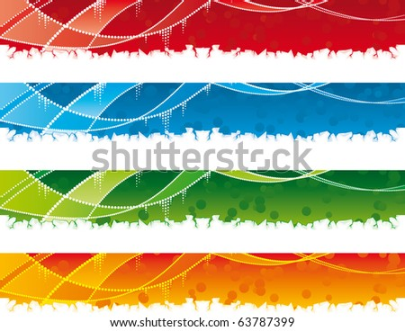 Multicolor vector Collection of banners