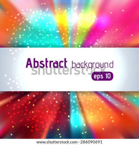 Multicolored abstract  background with place for text - stock vector