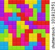 Multicolored blocks seamless background pattern. Vector illustration. - stock vector